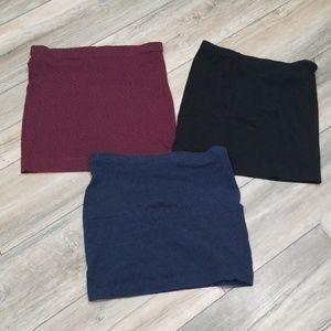 3 H&M basic skirts